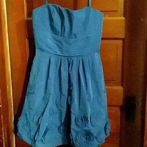 Royal blue BCBG strapless dress